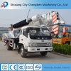 Hydraulic Boom 5 Ton Truck Construction Project Crane with Drill
