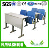 Plastic PP University Classroom Desk and Chair Sets Folding Lecture College Desks and Chairs