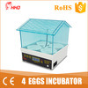 Hhd New 2017 Christmas Gift Incubator Used Chicken Egg Incubator for 4 Egg Yz9-4