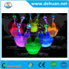 Custom Logo Plastic Bunning LED Ice Buckets 4L/ 8L