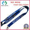 Silk Printed Service Logo Safety Lanyard with Metal Hook