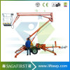 14m 12m Diesel Towable Trailed Aerial Man Lifts for Rent