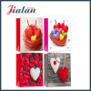 Glossy Laminated Art Paper Love Heart Shopping Gift Paper Bag