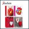 Glossy Laminated Art Paper Love Heart Shopping Gift Paper Bag