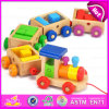 OEM Welcome Baby Early Learning Toys Wooden Toy Train, High Quanlity Children Wooden Toys Train Wholesale W05c024