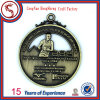 Custom Metal Square Matt Gold Plated Corporate Medal