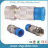 F Compression Connector for RF Coaxial Cable Rg59 RG6 Rg11 (F036)