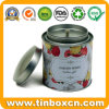 Custom Round Tea Tin with Airtight Inner Lid and Rivet, Tea Caddy, Food Packaging Tin Can, Metal Tin Box