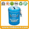 Metal Money Saving Tin Box Piggy Bank with Lock