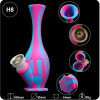 Colors Vase Glass Water Pipe Silicone Tobacco Weeb Smoking Pipes Filtration for Wholesale