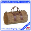 Mens Leisure Waxed Canvas Duffle Bag for Camping and Traveling