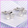 Silver Plated Propeller Brass Cufflink for Men