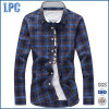 Wholesale Men Causal Plaid Shirts with Long Sleeve