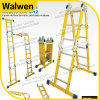 Yellow Color Fiberglass Multipurpose Ladder with Lock Hinge