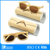 Latest Model Spectacle Frame Polarized Bamboo Sunglasses with Case