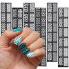 DIY Hollow Template Nail Art Stickers