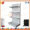 White Customized Supermarket Hole Back Wall Display Shelving (Zhs567)