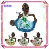Polyresin Jamaica Beach Ashtray, Cigarette Ashtray Gift, Painting Pearlized Souvenir
