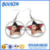Factory Custom Blank Photo Charm Earrings for Promotion