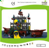 Kaiqi Medium Sized Pirate Ship Themed Children′s Outdoor Playground with Slides (KQ20081A)