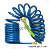 25FT Garden Coil Hose with Brass Connectors, PVC, EVA Material