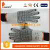 Ddsafety 2017 Natural Cotton or Polyester String Knit Black PVC Dots Both Sides