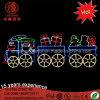 LED Large Metal Frame Santa Clause Christmas Street Decorative Motif Light for Buliding Decoration
