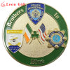 Custom Shiny Gold Metal Police Coin for Souvenir