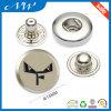 Nickel Color Custom Metal Snap Buttons Custom Logo