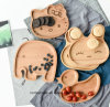 Good Cartoon Wood Box Wooden Snack Plate for Kids & Kitchen