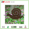 Powder Coated Metal Snail Stake Silhouette with Rust Look for Garden Decoration