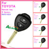 Car Remote Key for Toyota Corolla with 2 Button 89070-12740