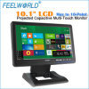 Feelwolrd New 10.1 Widescreen Projected Capacitive Touch LCD Display with HDMI, DVI VGA AV Input