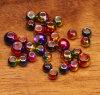 Rainbow Hued Plummeting Tungsten Beads Fly Tying Beads