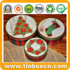 Sets of Three Christmas Metal Gift Tin Boxes