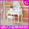 Wholesale Cheapest Wooden Dressing Table with Mirror and Stool W08h017