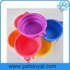 Factory Best Selling Foldable Plastic Dog Travel Feeder Bowl (HP-301)