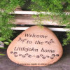 Creative Engraved Stone in Garden