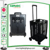 Pack-N-Roll Plastic Mesh Foldable Rolling Cart
