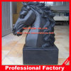 Black Marble Horse Head Sculpture