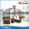 Garden Furniture Outdoor Double Rattan Daybed with Canopy