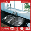 29-5/8 X 20-7/8 Inch Stainless Steel Under Mount Double Bowl Kitchen Sink with Cupc Certification