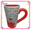 White Ceramic Heart Mug for Valentines' Day Gifts