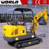 Ce Certificated 1.8ton Mini Crawler Type Excavator W218