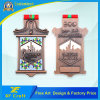 Factory Price Custom Metal Souvenir Marathon Medallion with Ribbon (XF-MD29)