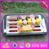 2016 Wholesale Baby Wooden Toy BBQ Grill, New Design Kids Wooden Toy BBQ Grill, Best Children Wooden Toy BBQ Grill W10d135