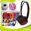 Black Customized Children Stereo Headset Headphone