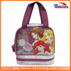 Portable Branded Princess Silk Screen School Lunch Bags