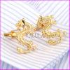 2017 New Style Fashion Cufflink Gold Plated Drgon Cuff Links