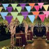 Full Color Two Sided String Pennant Bunting for Birthday Party